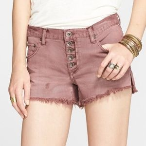 Free People | Runaway Slouch Button Fly Cut Offs